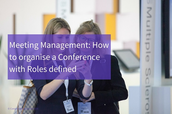Roles defined in Meeting Management