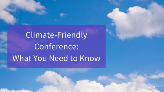 climate-friendly conference
