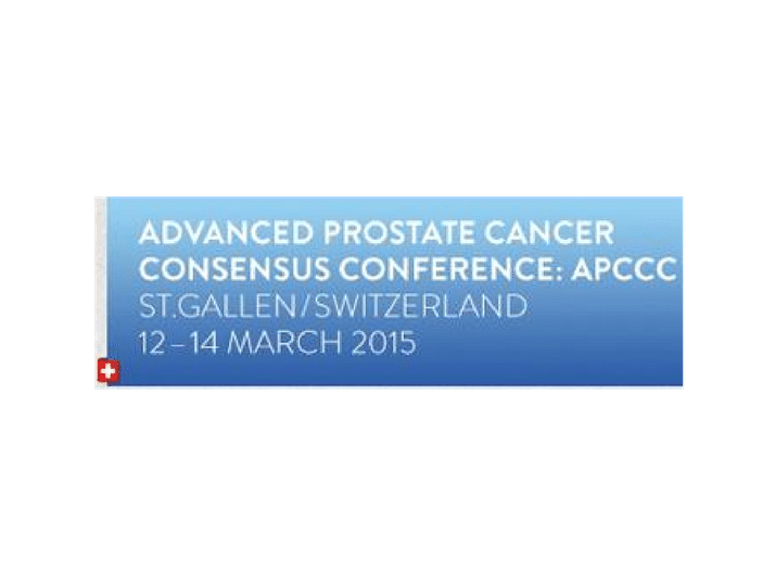 Advanced Prostate Cancer Consensus Conference (APCCC) 2015