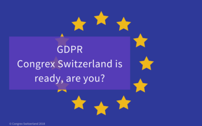 GDPR – Congrex Switzerland is ready, are you?