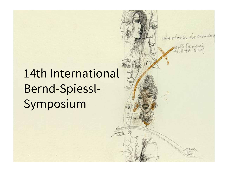 Bernd Spiessl Symposium 2018