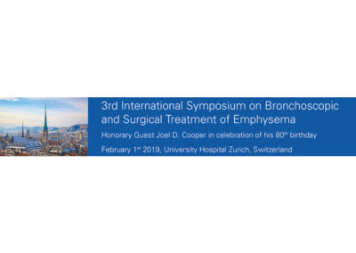 3rd International Symposium on Bronchoscopic and Surgical Treatment of Emphysema 2019