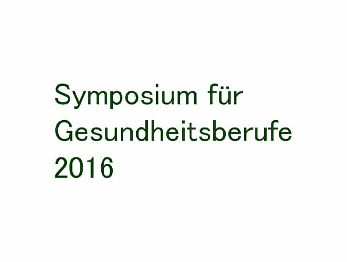 Symposium Gesundheitsberufe 2016